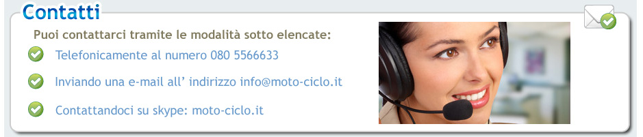 conttateci per avere informazioni sui prodotti di moto-ciclo.it